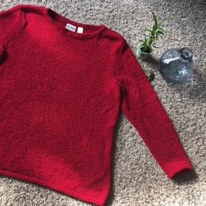 Liz Claiborne 16/18 XL Red Sweater